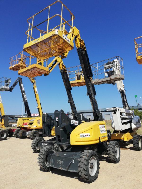 Alquiler plataformas articuladas eléctricas y diesel Castellón