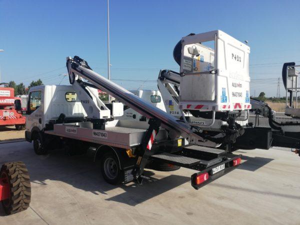 alquiler plataformas sobre camión Castellón