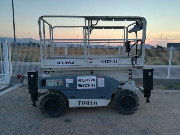 Alquiler plataformas tijera eléctricas y diesel Castellón