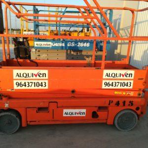 alquiler plataformas tijera eléctricas y diesel en castellón